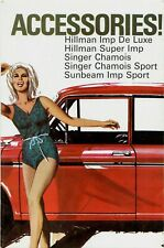 Hillman Sunbeam Imp Singer Chamois Accessories 1966-67 UK Market Folder Brochure