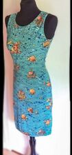 HERMES PARIS Women's Vintage Mosaic Sleeveless Sheath Dress Sz. 8 MSRP. $4395