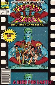 Captain Planet and the Planeteers #1 Newsstand Cover (1991-1992) Marvel Comics