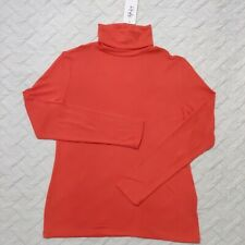 New listing Style & Co Long Sleeve Turtleneck Womens Casual Salmon Knit Shirt Top Size PS