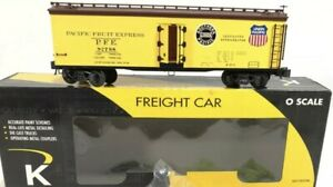 ✅K-LINE BY LIONEL PACIFIC FRUIT EXPRESS WOOD SIDE REEFER CAR! O SCALE PFE UNION