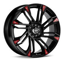 4 Enkei GW8 Wheels 17x7 5x100, 5x114.3 +42mm Offset Black Rims