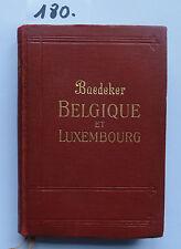 Baedeker Belgique et Luxembourg 1928 (3. W.)