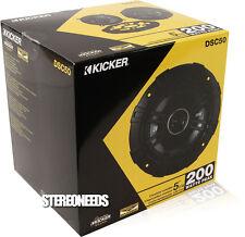 KICKER DSC50 43DSC504 400W 5.25 DS 2-WAY CAR SPEAKERS SPEAKER PAIR 5-1/4 DSC50