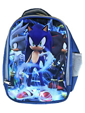 Sonic the Hedgehog Backpack Kids School Travel Kindy Bag Rip Stop PS4 Xbox PC AU