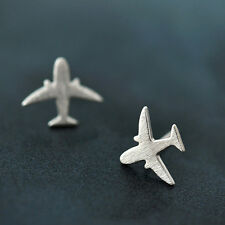 Simple Design 925 Silver Cute Plane/Fish and Leaf/Geometry Shape Stud Earrings