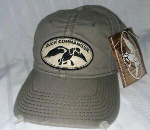 Distressed DUCK COMMANDER Adjustable Strapback Hat/Cap HUNTING Arise, Kill, Eat