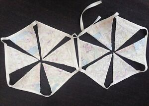 """Perfect Bunting""  Hand Made 1940s Vintage Lace Bunting 50% Off"