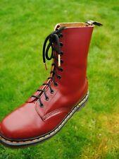 💥 Vintage Skinhead 10 eyelet Dr Martens 1490 Boots UK 7.5  Made in England 💥