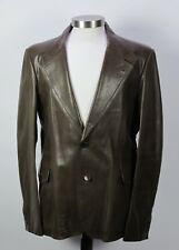 New Gucci Brown Leather Jacket Coat 56 eu / 46 US $4600
