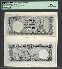 Nepal Face & Back 100 Rupees Unissued Pick Unlisted Photograph Proof UNC