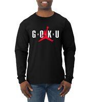 Air Goku Funny DBZ Mens Long Sleeve T Shirt TV Inspired Dragon Ball Humor Tee