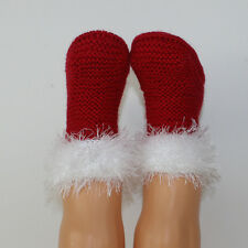 PRINTED KNITTING INSTRUCTIONS-TODDLER SIMPLE CHRISTMAS BOOTS KNITTING PATTERN