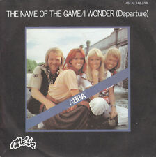 "7"" 45 TOURS FRANCE ABBA ""The Name Of The Game / I Wonder (Departure)"" 1977"