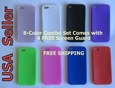 (8 Color Combo Set) iPhone 5 Silicon Skin Soft Gel Case Cover+ FREE Screen Guard
