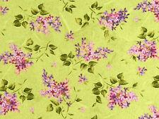Stoffe Flieder Blätter Blüten Zweige Fliedersträuße rosa grün lavendel 30x1,12