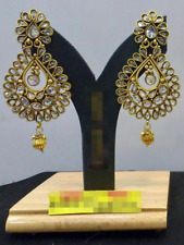 Bollywood Fashion Women Gold Plated Wedding Party Ethnic Jewelry Earrings Set