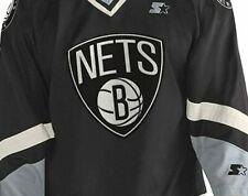 NBA Brooklyn Nets Starter Men's Legend Crossover Black Hockey Jersey sz 6XL -NWT
