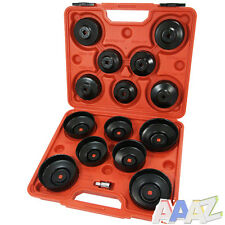 "16 Pc Cap Type Oil Filter Wrench Puller Removal Tool Set Kit Adaptor 3/8"" Drive"