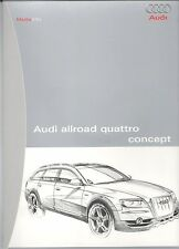 AUDI ALLROAD QUATTRO CONCEPT  MEDIA INFO FOLDER.