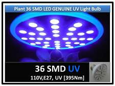 6th Gen Plant Grow 36SMD LED UV 395Nm Light Bulb 110V E27 USA Engineer Certified