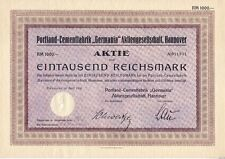 Portland - Cementfabrik Germania AG 1928  Hannover