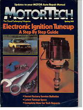 MotorTech Motor Tech Magazine Spring 1981 Vintage Automobile Car Mechanic Guide