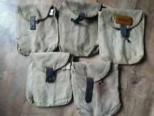 More details for 5 vintage russian army military pouches for 2 magazines each, ussr era period.
