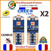 2 Ampoules LED T10 W5W Orange Canbus Anti Erreur Ampoule Clignotant