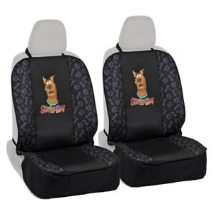 2pc Scooby Doo Front Pet Dog Cat Car Seat Covers - Waterproof Seat Protectors