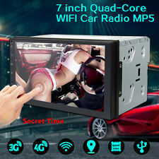 7'' Double 2Din Car Radio Stereo Quad Core WiFi Android 6.0 MP5 Player GPS 3G 4G
