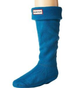Hunter Womens Fleece Welly Tall Boot Socks Ocean Blue Size M 5-7 11311