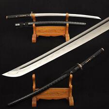 Clay Tempered Japanese Samurai Dragon Sword Katana Damascus Folded Steel Sharp