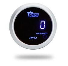 "IN AU Universal 52mm 2"" Digital 9999 RPM Auto Tachometer Tach Gauge Blue LED"