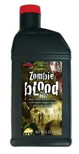 1 PINT ZOMBIE BLOOD HALLOWEEN HAUNTED HOUSE PROP COSTUMES DECORATION FW9626