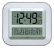JUMBO LCD Radio Controllato Orologio da parete con Temperatura e Umidità Display