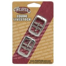 """Weaver Replacement Nickel Plated Z162 Double Bar Buckle Two Pack, 3/4"""""""