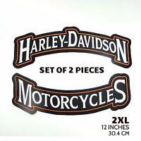 """Harley Davidson Set of 2 - 12"""" Back Rockers (2XL)"""