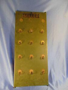 Antique Miller Lock Co metal display board lock case advertising padlocks store