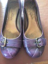 Purple Ladies Court Shoes, Clarks Size 7/41