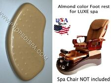 Luxe Almond Beige Foot rest spa tech hair nail pedicure manicure massage chair
