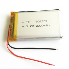 3.7V 2000mAh LiPo Polymer Recharge Battery For PAD Tablet PC Power bank 903759