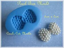 SUGARCRAFT/CAKE DECORATING: DETAILED PEARL BOW SILICONE MOULD WEDDING ANIVERSARY