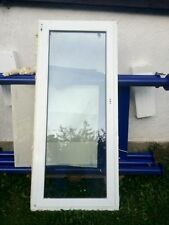Balkontür Glas Kunststoff weiss 910mm x 2050mm DRK/links mit Lüftungsautomat