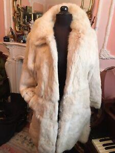 Stunning Ivory Real Fur Coney Fur Glamorous Coat