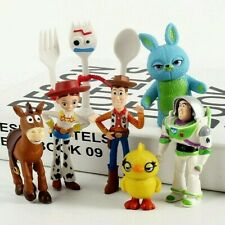 Toy Story 4 Woody Jessie Forky Bunny Duck Figure Play Set Toy Cake Topper 7pcs