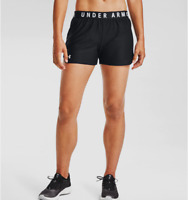 Under Armour Womens UA HeatGear Play Up 2.0 Shorts   1332550 Black/White NWT