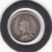 Jubilee  Head  1889   Queen  Victoria  Threepence  (3d)  Silver (92.5%) Coin