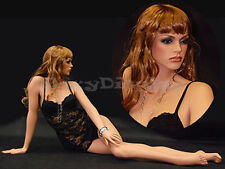 Fiberglass Female Manikin Mannequin Display Dress Form #Md-Fr11+Free Wig