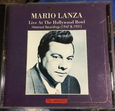 MARIO LANZA CD Live At The Hollywood Bowl HISTORICAL RECORDINGS 1947 - 1951